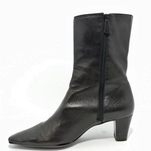 Cole Haan Shoes - Cole Haan Black Zip Up Mid Bootie 7.5AA